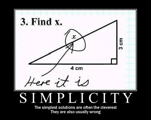 A poster on simplicity
