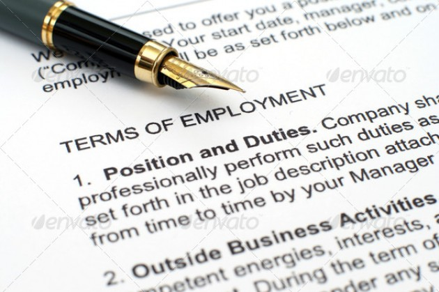 Picture of an employement contract